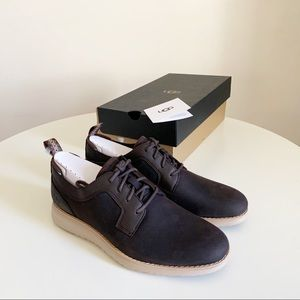 UGG Union Derby Waterproof Shoes Brown Size 10